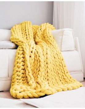 Мерино Одеяло Жълто