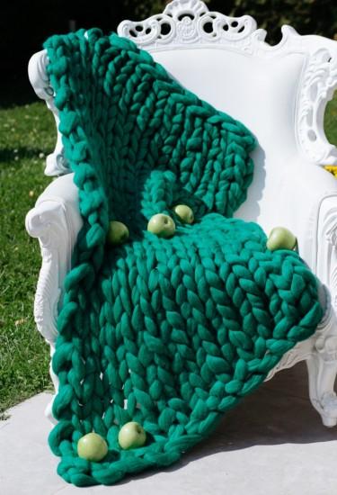 Мерино Одеяло Тъмнозелено