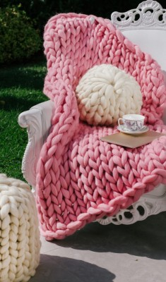 Мерино Одеяло Розово
