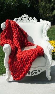 Мерино Одеяло Червено