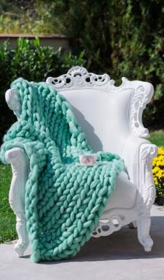 Мерино Одеяло Светлозелено